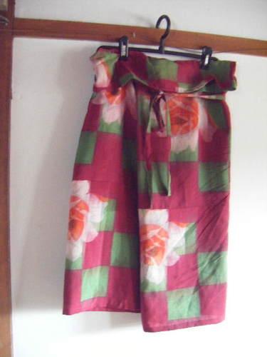 ルンギ式巻きスカート(銘仙)