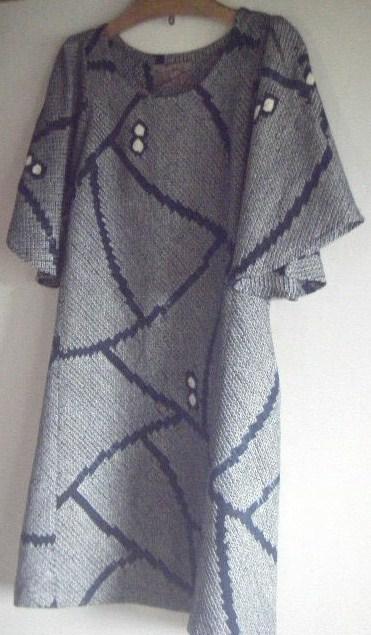 フレアワンピ (絞りの羽織から)