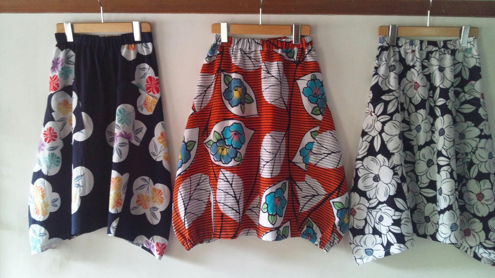 浴衣deバルーンスカート