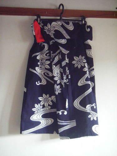 ルンギ式巻きスカート(浴衣)