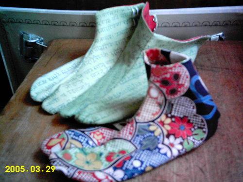 ヒンディーと和柄 足袋
